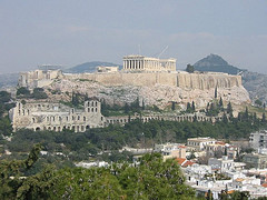 The Acropolis from a distance